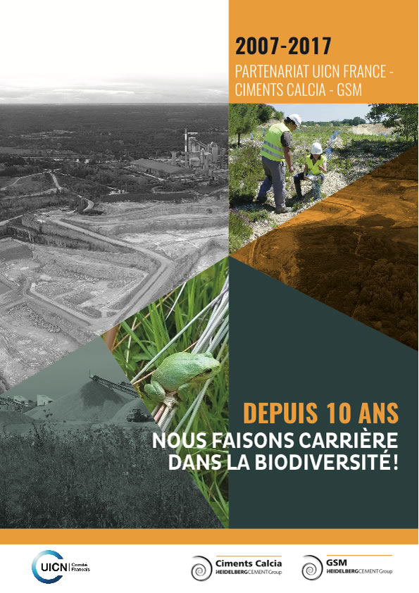 10 ans de partenariat UICN France, Ciments Calcia et GSM