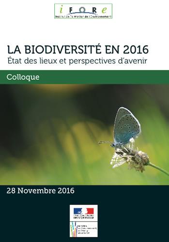Colloque « La biodiversité en 2016 : état des lieux et perspectives d'avenir »
