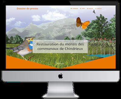 Dossier de presse numérique : restauration du marais des communaux de Chindrieux